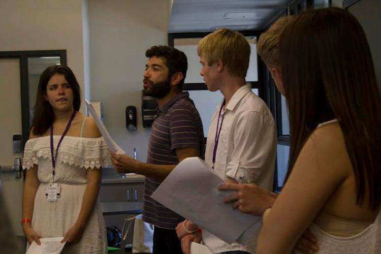 Actors Practice Reading