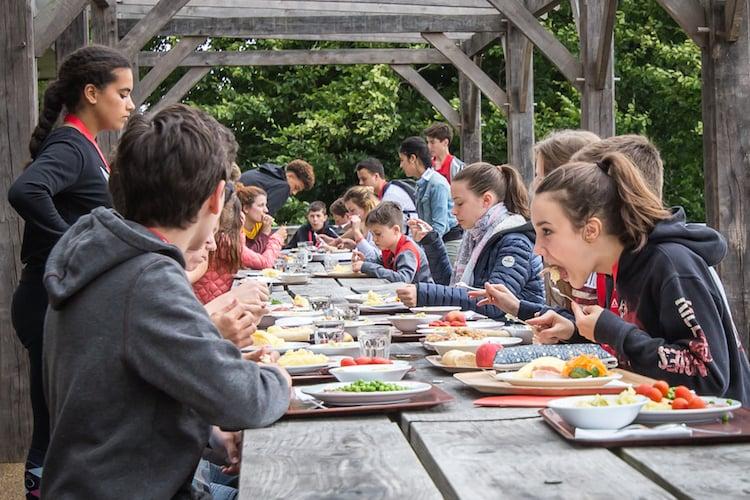 Bedales School - Outdoor Dining Area
