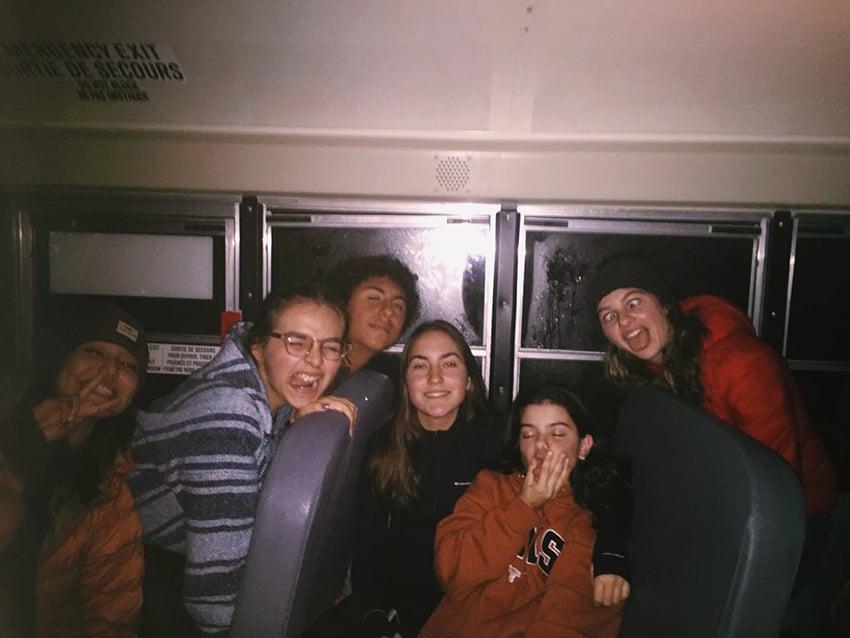 amigos año escolar extranjero
