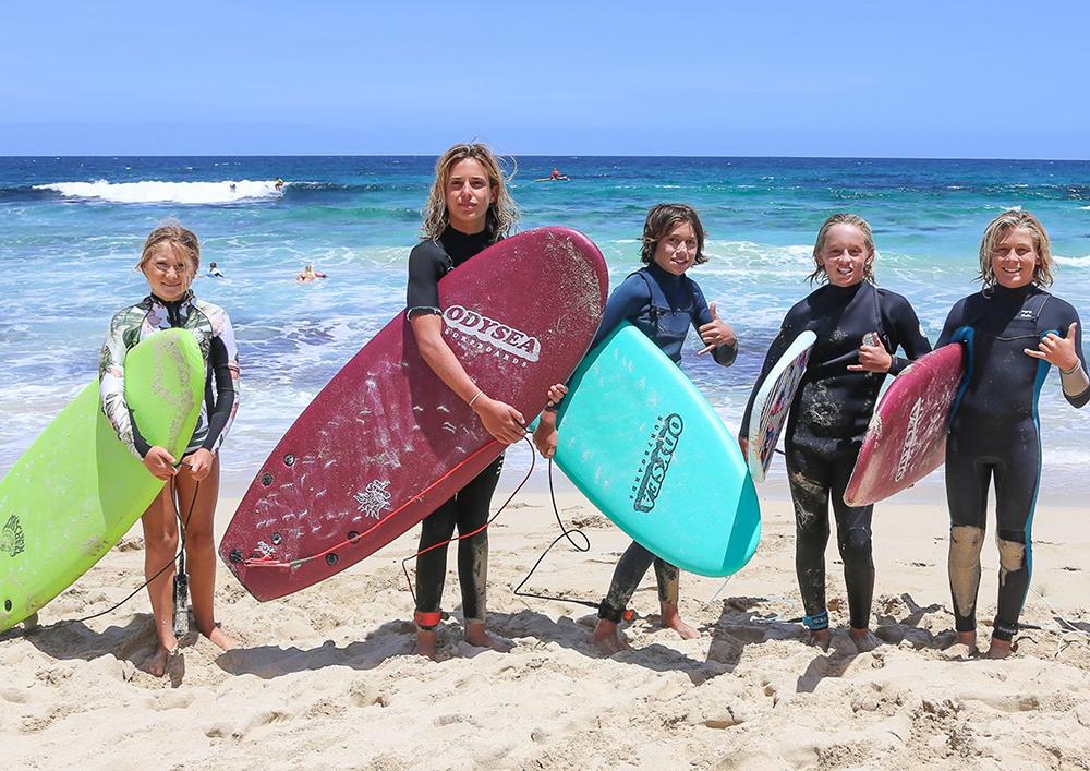 campamento de verano surf
